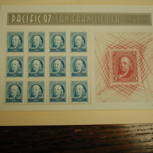 Mint Sheet Scott #3140, 50C Stamp Benjamin Franklin Sheet Of 12 MNH