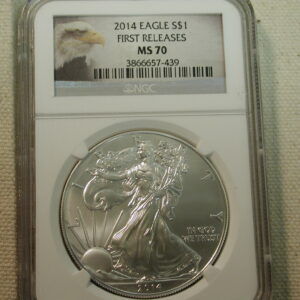 2014 Silver Eagle  First Releases MS70 NGC