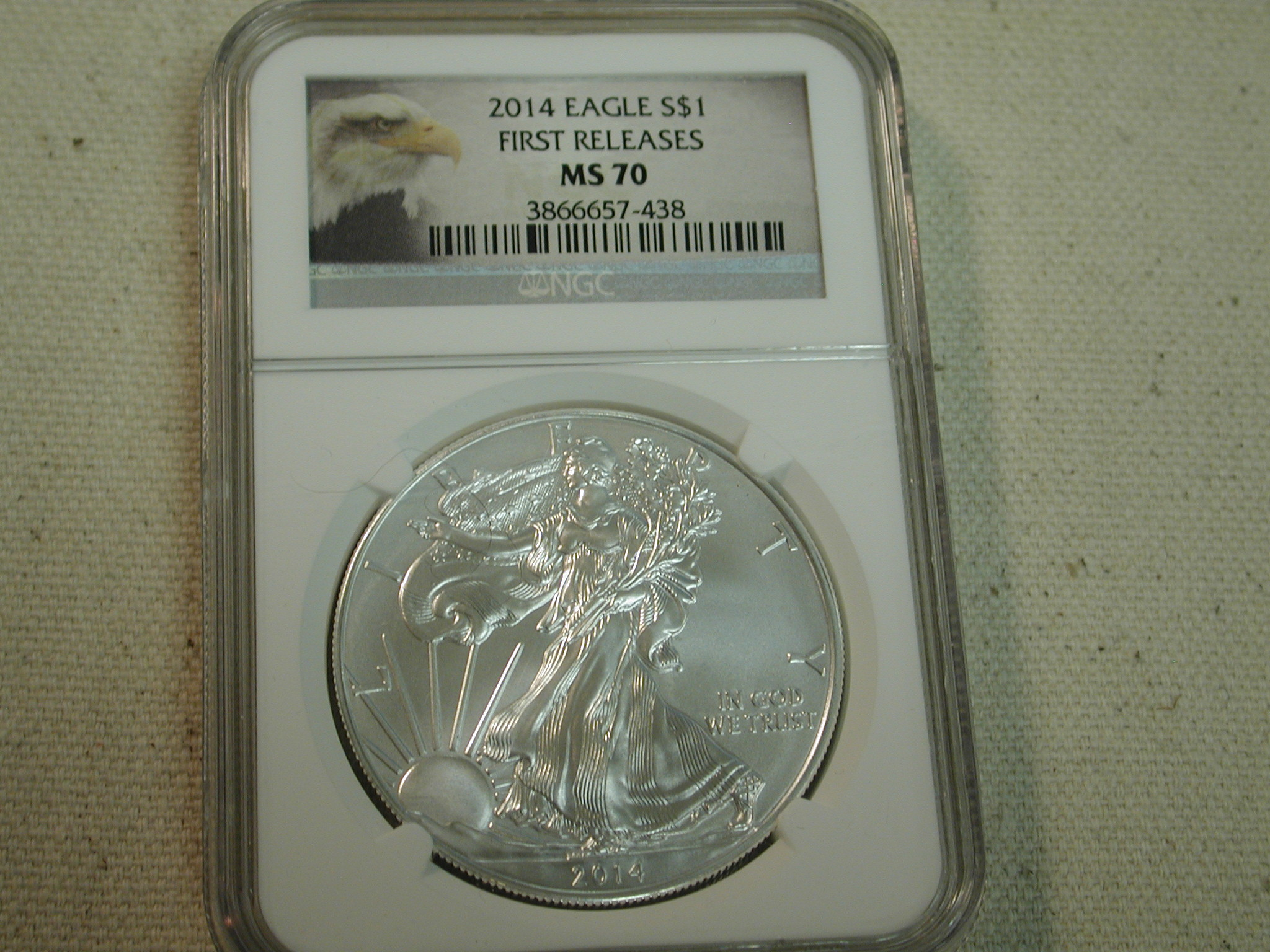 2014 Eagle S$1 First Releases MS70 NGC