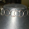 Sterling Silver Choker Collar handcrafted interlocking 22mm Circles