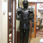 Knight prop 7 seven feet tall black tin great prop Hinged helmet