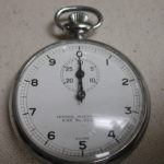 Jules Racine Swiss No 3364 Central Scientific stopwatch 47mm