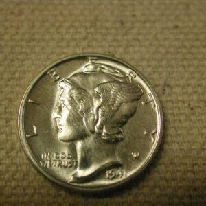 1941 U.S Mercury Dime Choice Uncirculated