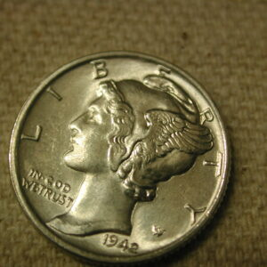 1942 F.S.B U.S Mercury Dime Gem Choice Uncirculated