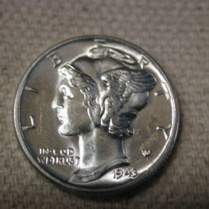 1943 Full Bands U.S Mercury Dime Gem Choice Uncirculated