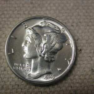 1943-D F.S.B U.S Mercury Dime Gem Choice Uncirculated