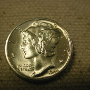 1944-D F.S.B U.S Mercury Dime Gem Choice Uncirculated