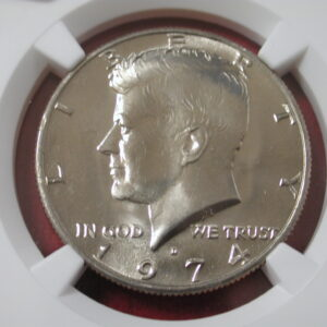 1974 Denver Kennedy Half Dollar NGC MS 66 Lusterous and Bright
