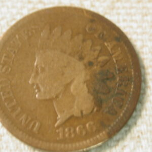 1866 U.S indian head Cent  Good