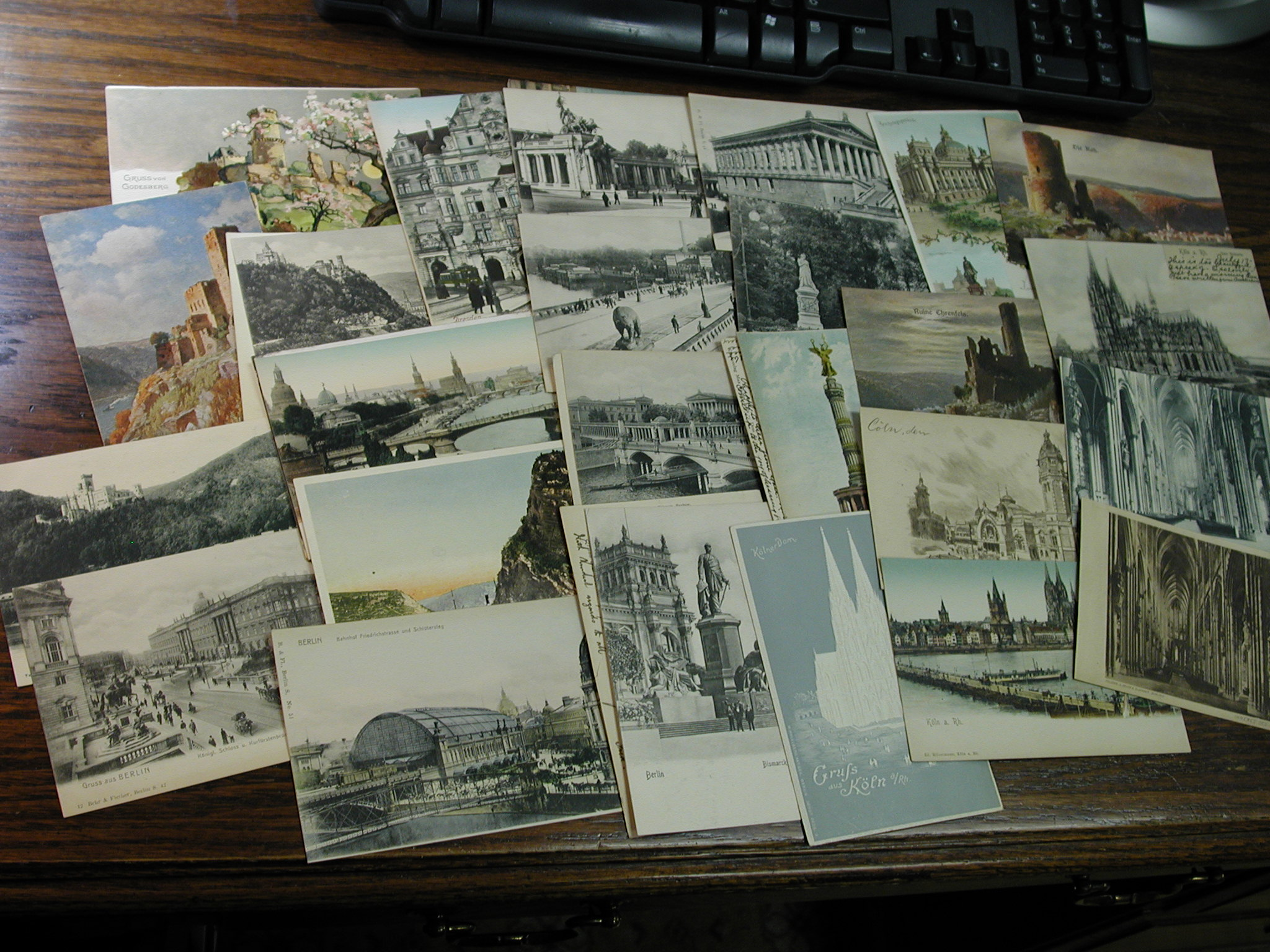 34 German Early 1900's Post Cards All Undivided Backs, Very Good Condition