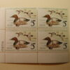 U.S. Duck Stamps Plate Block $5 Canvasback US Department of The Interior