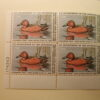 U.S. Duck Stamps Plate Block $7.50 Cinnamon Teal US Department of The Interior