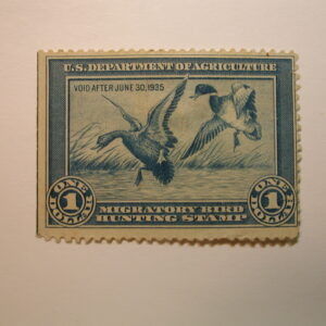 U.S. Stamp Scott #RW1 US Department of Agriculture $1 Migratory Bird Hunting Stamp Mint No Gum