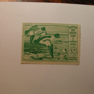 U.S. Stamp Scott #RW16 US Department of Agriculture $2 Migratory Bird Hunting Stamp Gum Skip