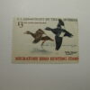 U.S. Stamp Scott #RW36 US Department of Interior $3 Migratory Bird Hunting Stamp - White-Winged Scoters, Bent Upper Rt Corner, NH