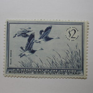 US Department of Interior Scott #RW22 $2 Blue Geese Stamp 1955, MNH