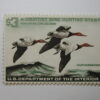 US Department of Interior Scott #RW32* $3 Canvas Backs Duck Stamp 1965, MNH