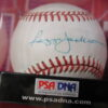Reggie Jackson single Signed baseball PSA Grade 8