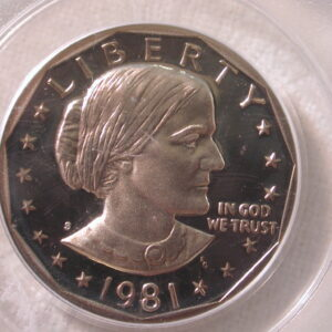1981-S Susan B. Anthony Dollar PCGS PR 69 DCAM Type 1