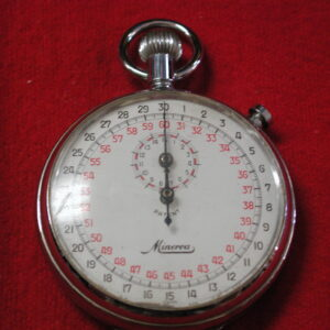 Swiss Minerva 1/10 second Stop watch 50mm 7 Jewels runs well