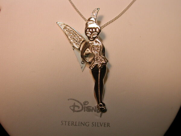 Disney's Tinker Bell Pendant with Cubic Zirconia in Sterling Silver
