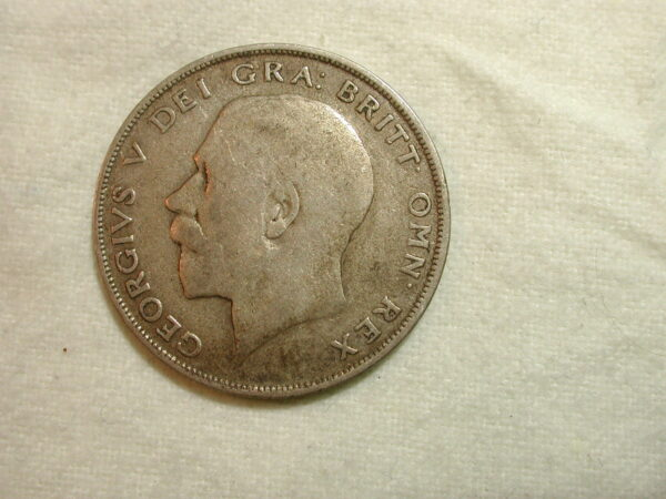 Great Britain 1921 World Coin Half Crown KM #818.1a ASW .2273 /VF