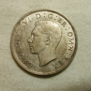 Great Britain 1941 World Coin Two Shilling KM #855 ASW .1818 /XF