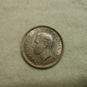 Great Britain 1942 World Coin Three Pence KM #848 ASW .0227 / XF
