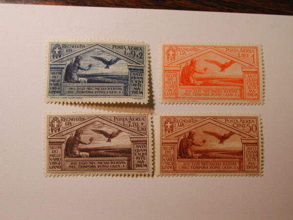 Italy Virgil Airmail Stamps Scott #C23-6, Very lightly Hinged /Set of 4