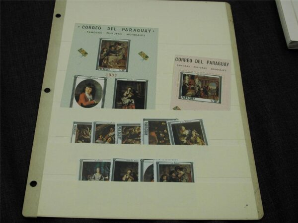 Paraguay #1031-40 with IMPERF Souvenir sheet never hinged