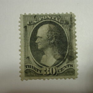 US Scott #154 Used 30 Cent Banknote Stamp
