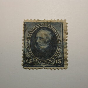 U.S. Scott #259 15 Cent Dark Blue The Bureau of Engraving 1894, used