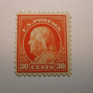 U.S. Scott #516 30 Cent Franklin 1917, Never Hinged