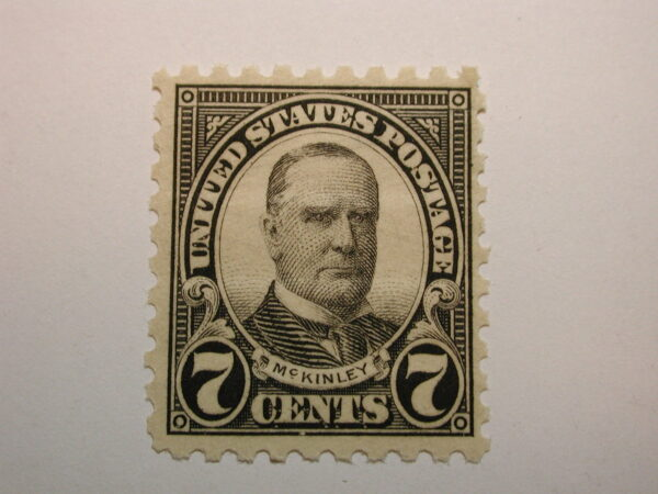 U.S. Scott #588 7 Cent William McKinley 1926, Never Hinged
