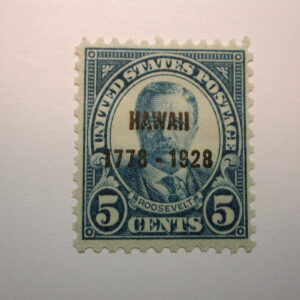 U.S. Scott #648 5¢ Roosevelt Hawaii 1928, Never Hinged