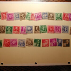 U.S. Scott #859-893 - 1940 Famous Americans Complete Set of 35 NH
