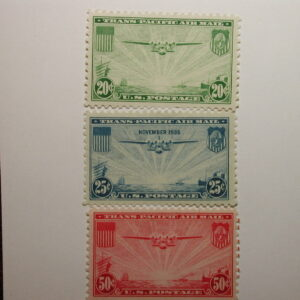 U.S. Scott #C20-C22 China Clipper Airmail Set 1935-37 Never Hinged