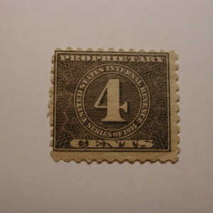 U.S. Scott #RB41 4 Cent Issue Revenue Proprietary Tax Stamp 1914 – NH, Origin...