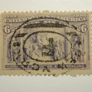US Stamp Scott #235 Columbus Welcome Barcelona 1893 used