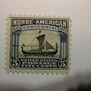 U.S. Stamp Scott #621 5 Cent Norse American Issue 1925, Never Hinged