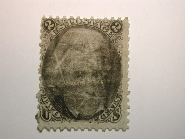 U.S. Stamp Scott #73 2¢ Andrew Jackson 1863, Used