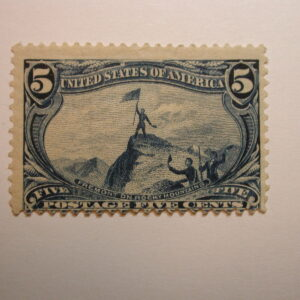 US Stamps Scott #288 5 Cent Trans-Mississippi Expo Issue 1898 Hinged