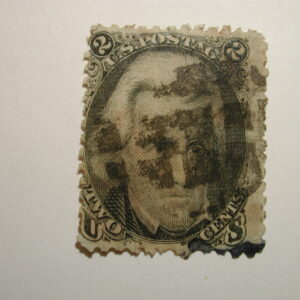 US Stamps – Scott#73 – 2 cent Black Jack Issue, used