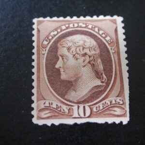 USA Stamp Scott #209, TEN CENTS, MINT, Hinged