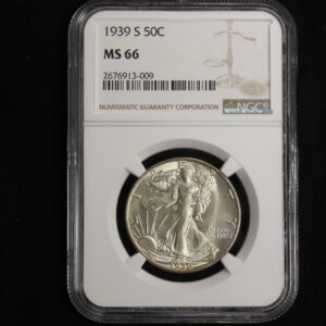 1939-S Walking Liberty Half MS 66 Frosty White Luster