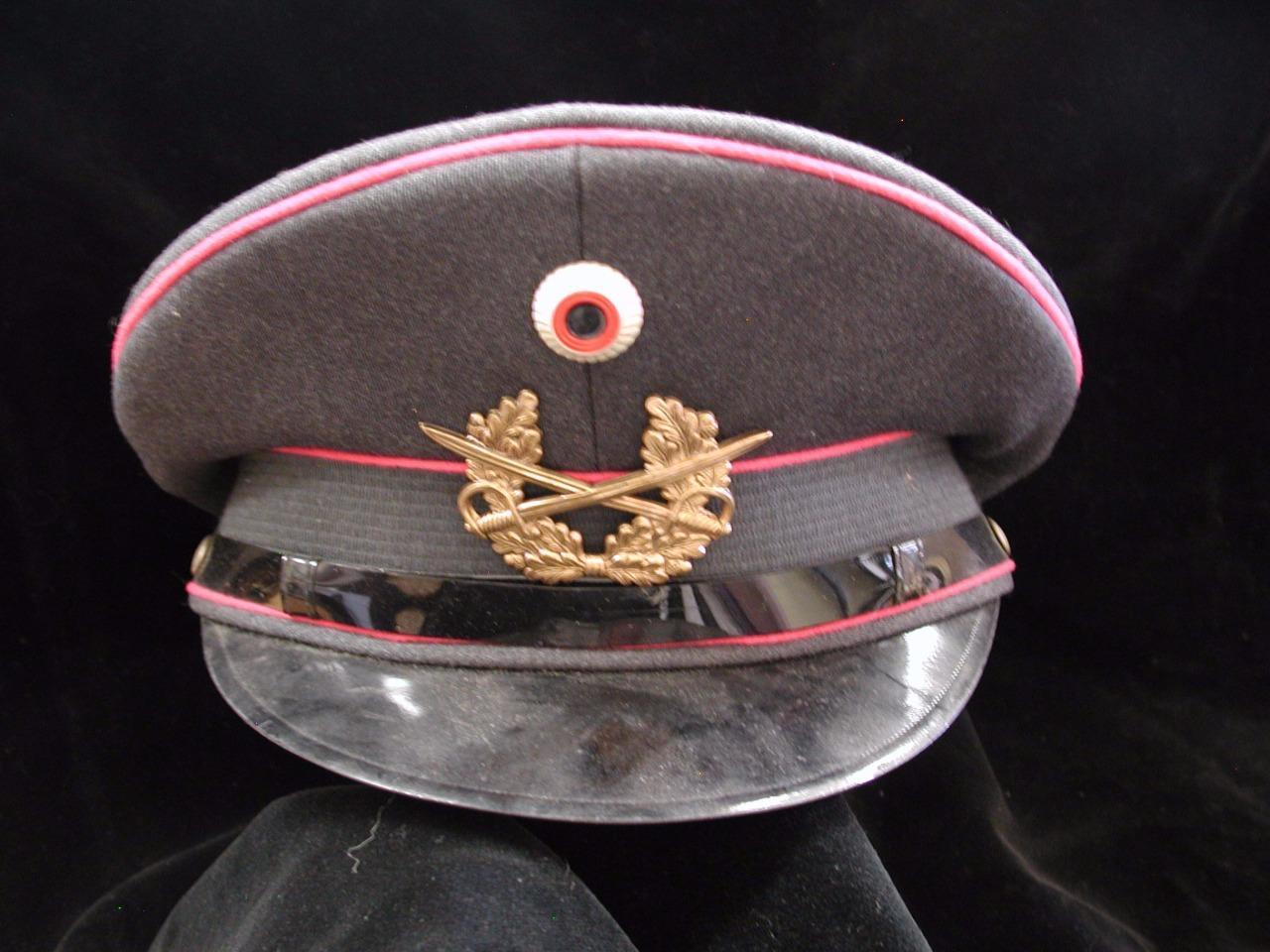 West Germany Army Dress Cap Gray with Pink piping Bamberger Size