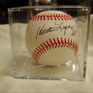 Hector Lopez Autographed Baseball in presentation case