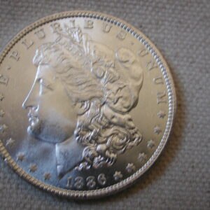 1886 U.S Morgan Silver Dollar Gem Choice Uncirculated blazing