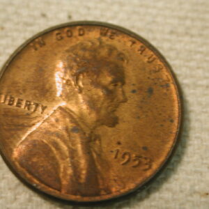 1953/3 U.S Lincoln Wheat Cent About Uncirculated