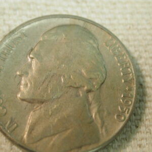1950-D U.S Jefferson Nickel About Uncirculated